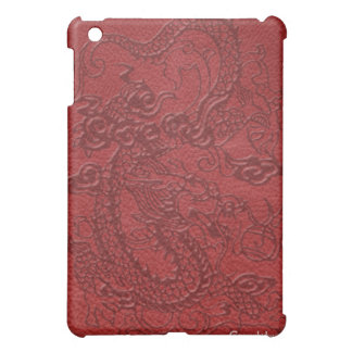 Dragon's Pad in Deep Red Leather Case For The iPad Mini