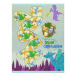 Dragons Pattern Fold a Cuboctahedron Print