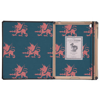 Dragons Pink Blue Cover For iPad