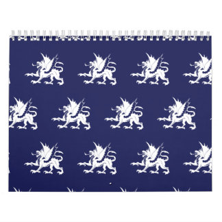 Dragons Purple White Calendars