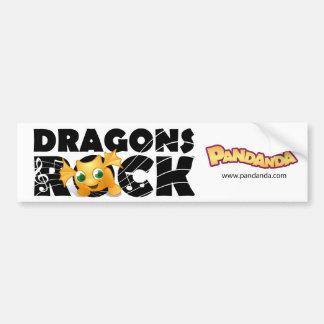 Dragons Rock Bumper Sticker Car Bumper Sticker