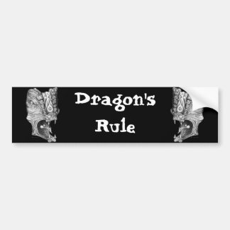 Dragons Rule Bumper Stickers