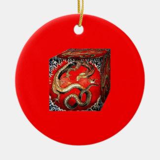 Dragon's Treasure Box by sharles Christmas Tree Ornament