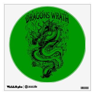 Dragons Wrath Black Wall Decal