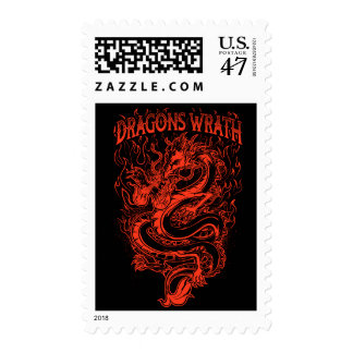 Dragons Wrath Red Postage