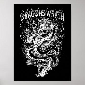 Dragons Wrath White Poster