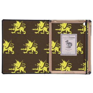 Dragons Yellow brown iPad Covers