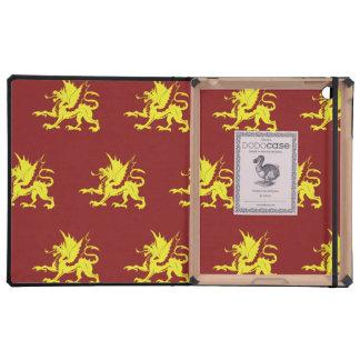 Dragons yellow reds iPad case