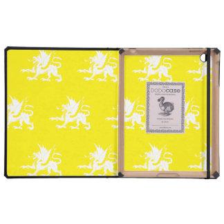 Dragons Yellow White Case For iPad