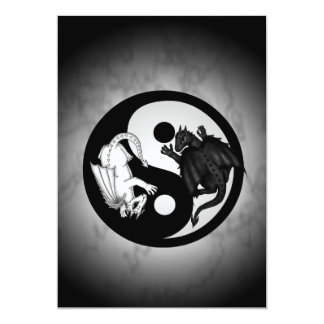 dragons ying yang invitation