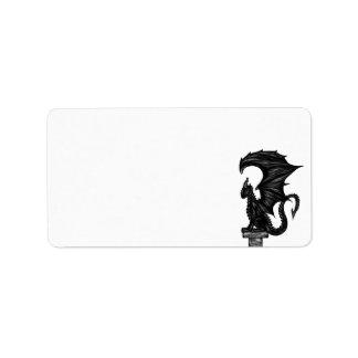 Dragonstatue Label