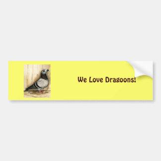 Dragoon Blue Grizzle Bumper Sticker