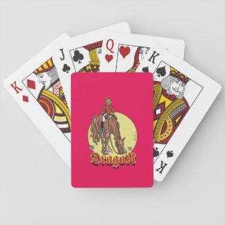 Dragoon shuffles Sketcher Playing Cards