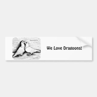 Dragoon White Pair Bumper Sticker