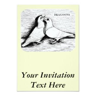Dragoon White Pair 5x7 Paper Invitation Card