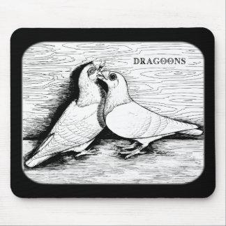 Dragoon White Pair Mouse Pad