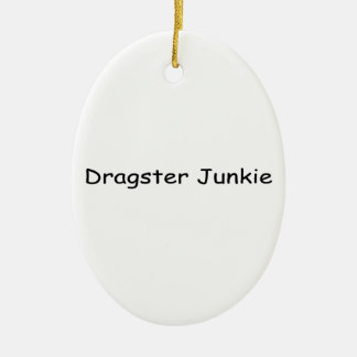 Dragster Junkie By Gear4gearheads Double-Sided Oval Ceramic Christmas Ornament
