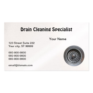 Drain Cleaner Business Card