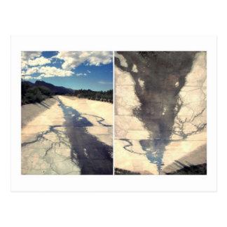 drain clouds postcard