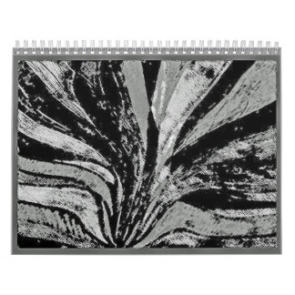 drain colors black and white abstact drawings calendar