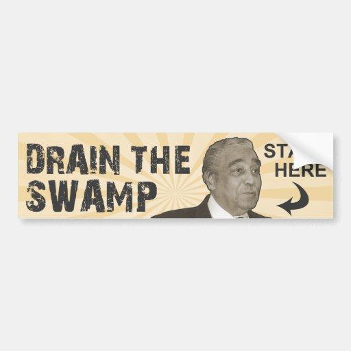 Drain The Swamp Car Bumper Sticker