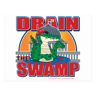 Drain The Swamp in Washington Postcard