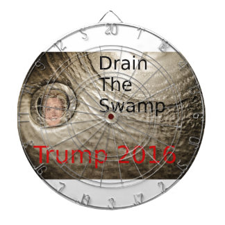 Drain The Swamp Trump-Clinton Political Design Dartboards