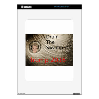 Drain The Swamp Trump-Clinton Political Design iPad Decal