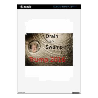 Drain The Swamp Trump-Clinton Political Design Skins For iPad 3
