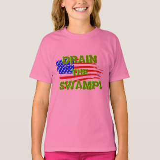 DRAIN THE SWAMP! with American Flag T-Shirt