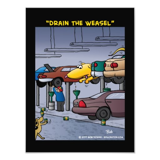 """""""Drain The Weasel"""" Photographic Print"""