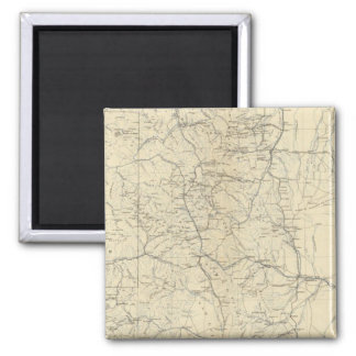 Drainage Map of Colorado 2 Inch Square Magnet