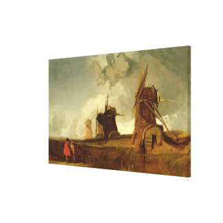 Drainage Mills in the Fens, Croyland, Lincolnshire Canvas Print