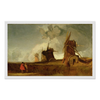 Drainage Mills in the Fens, Croyland, Lincolnshire Poster