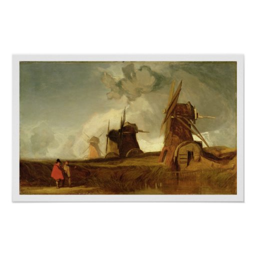 Drainage Mills in the Fens, Croyland, Lincolnshire Posters