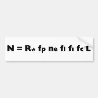 Drake_Equation Bumper Sticker