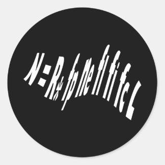 Drake_Equation Classic Round Sticker