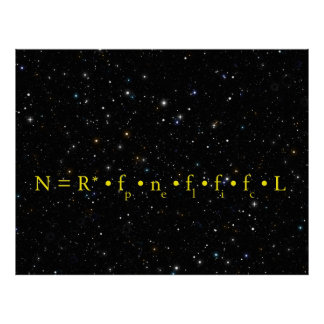DRAKE EQUATION - HOW MANY ARE OUT THERE POSTERS