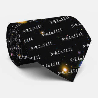 Drake Equation Hubble Deep Field Galaxies Neck Tie