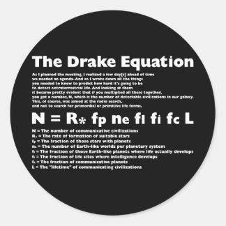 Drake_Equation Pegatina Redonda