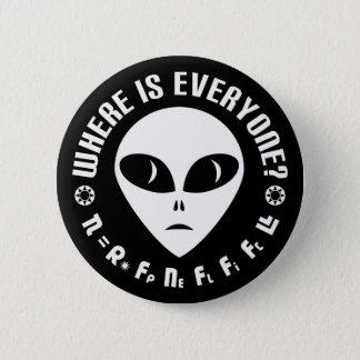 Drake Equation vs Fermi Paradox Astronomy Button