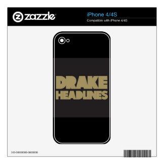 Drake- Headlines Skin For iPhone 4S