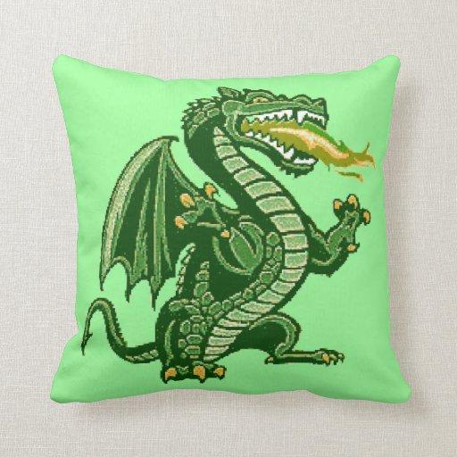 Draken Green Pillow