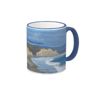 Drakes Beach - Point Reyes National Seashore Ringer Coffee Mug