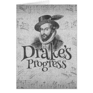 Drake's Progress band blank card