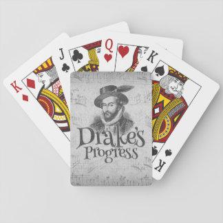 Drake's Progress band playing cards