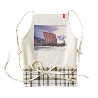 Drakkars - 3D render Zazzle HEART Apron