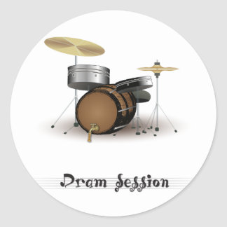 Dram session classic round sticker