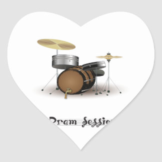 Dram session heart sticker