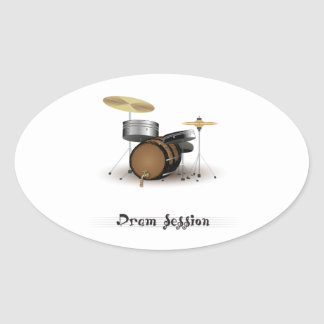 Dram session oval sticker